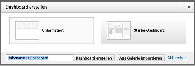 Google Analytics neues Dashboard