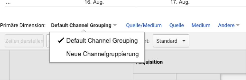 Channelgruppierung
