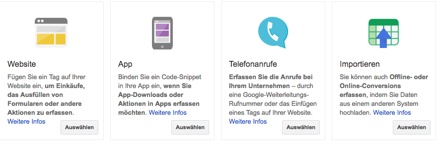AdWords Conversion Einrichten