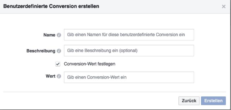 Benutzerdefinierte Conversion