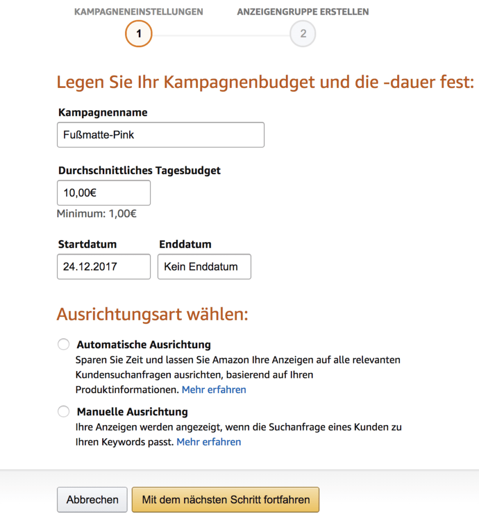 Amazon PPC Anleitung