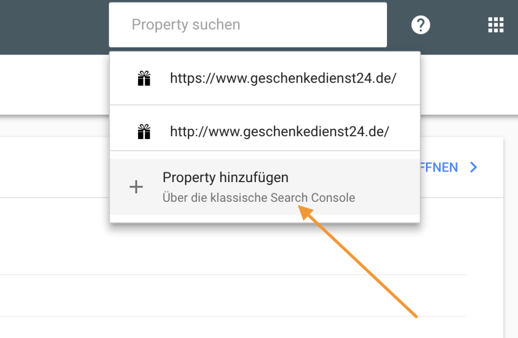 Anleitung Search Console
