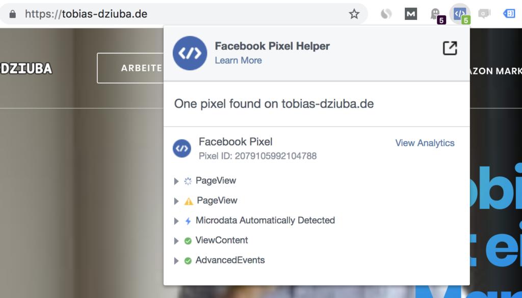 Facebook Pixel einbauen