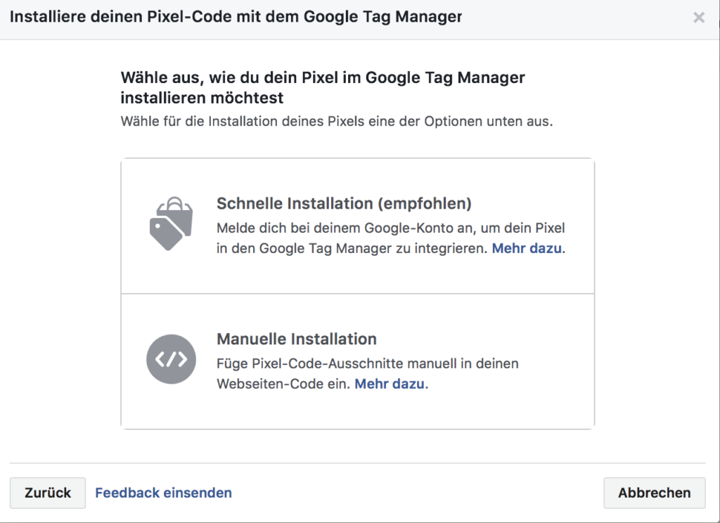 Facebook Pixel Google Tag Manager