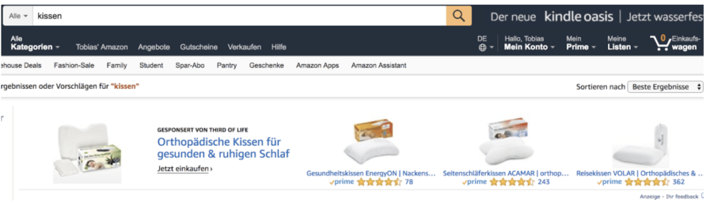 Headline Search Ads Amazon