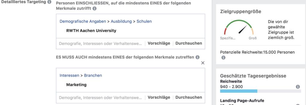 fehler facebook werbung