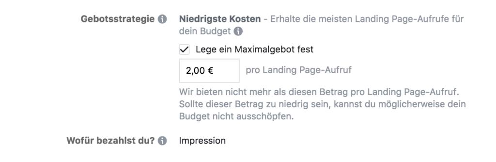 maximalgebot facebook