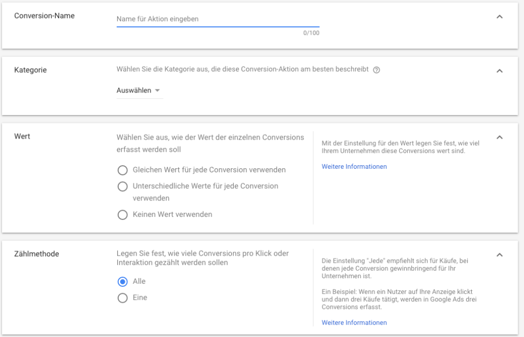 Google shopping Conversion Einrichten