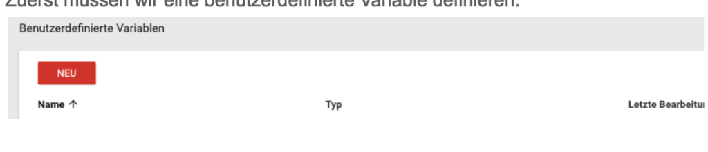 Bnutzerdefinierte Variable