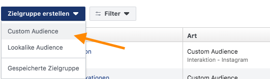 Facebook custom audience erstellen