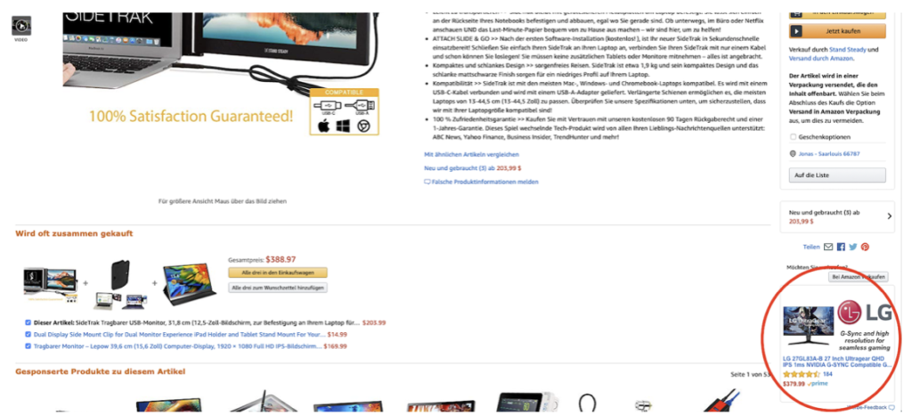 Amazon Werbung Tool