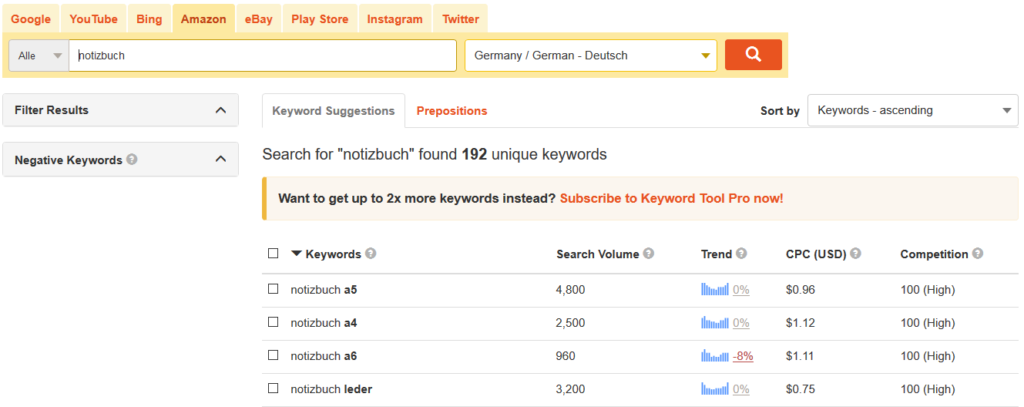 keywordtool amazon seo
