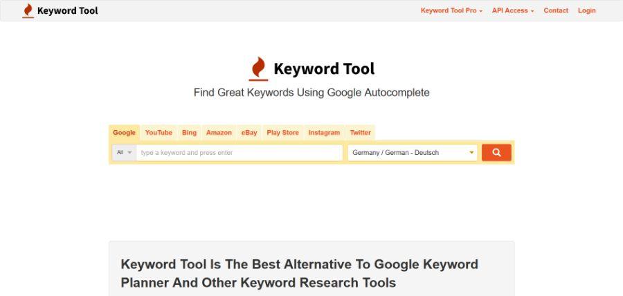 SEO Tool Keyword Tool