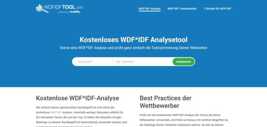 SEO -Tools WDFIDF