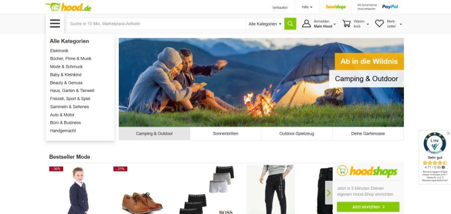 Hood - Online ecommerce marktplatz