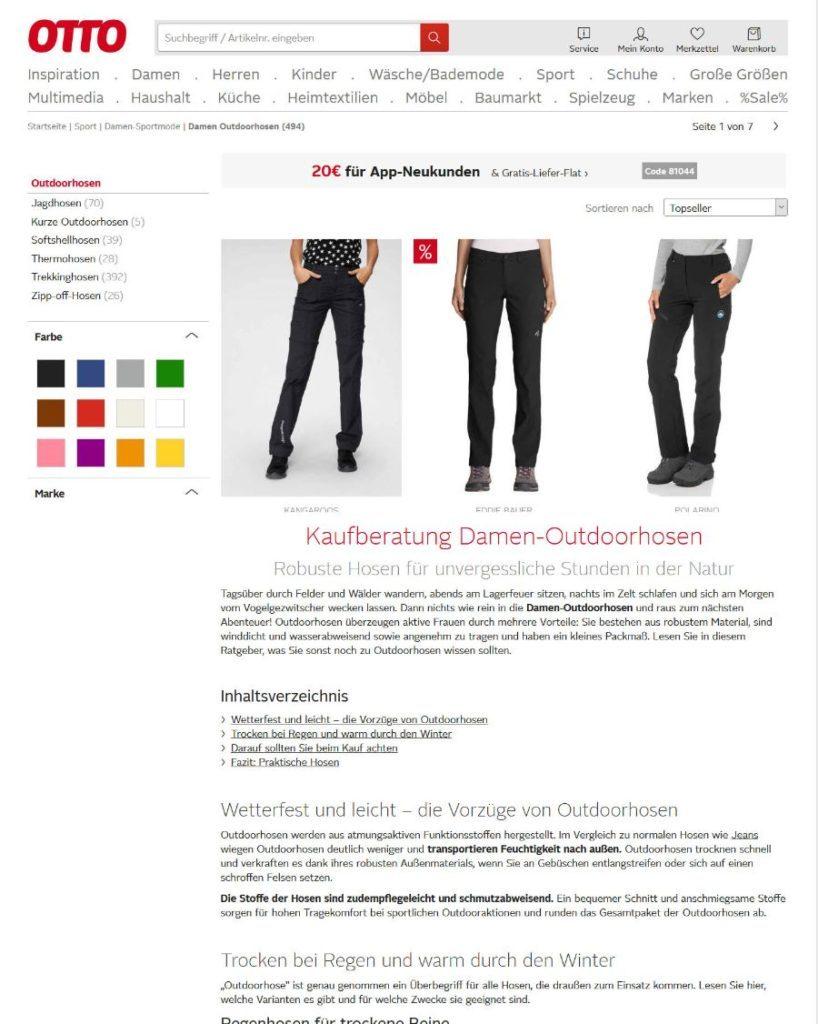 Online-Shop SEO